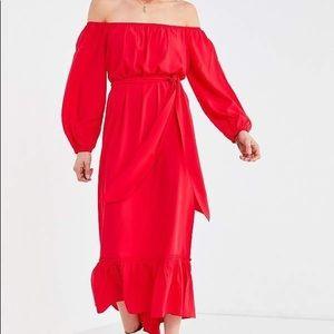 💃🏻Red off the shoulder dress